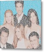 Friends Episode Mosaic Metal Print