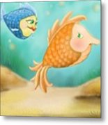 Friendship Fish Metal Print