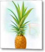 Friendship Pineapple Metal Print