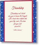Friendship Poem Metal Print