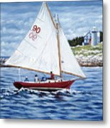 Friendship Sloop Metal Print