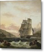 Frigate Of The Royal Navy Metal Print