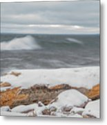 Frigid Waves Metal Print