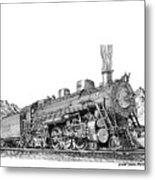 Steam Driven Locomotive Metal Print