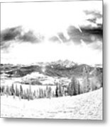 Frisco In The Snow Metal Print