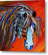 Frisco War Horse Metal Print