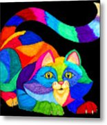Frisky Cat Metal Print