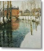 Frits Thaulow    A Chateau In Normandy Metal Print