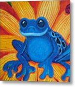Frog And Lady Bug Metal Print