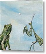 Frog Fly And Mantis Metal Print