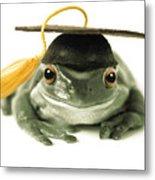 Frog Graduate Metal Print