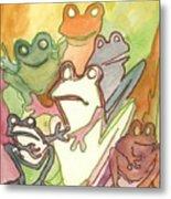Frog Group Portrait Metal Print