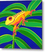 Frog On Branch Metal Print
