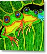 Froggie Trio Metal Print