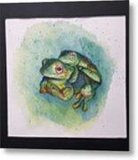 Frogs Of Borneo L Metal Print