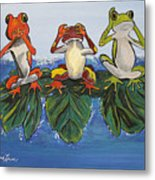 Frogs Without Sense Metal Print