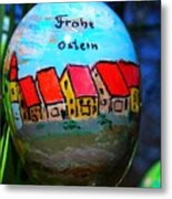 Frohe Ostern Metal Print