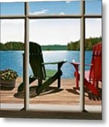 From A Window Metal Print