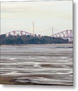 From Cramond To Forth Bridge, Forth Road Bridge, And Forth Crossing Metal Print