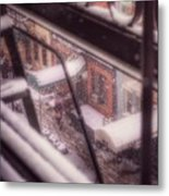 From My Window - Braving The Snow Metal Print