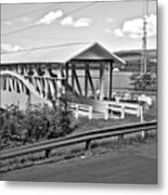 From Old To New In Bedford County Black And White Metal Print