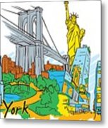 From Old To New York Metal Print