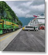 From Ship To Train Metal Print