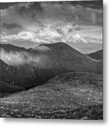From Slieve Bearnagh Panorama To The South Metal Print