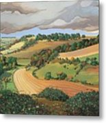 From Solsbury Hill Metal Print by Anna Teasdale