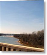 From The Bridge The Red River Metal Print