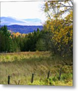 From The Field To The Mountains Metal Print
