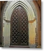 Front Door Christ Church Cathedral 4 Metal Print