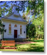 Front Of A Small Church Metal Print