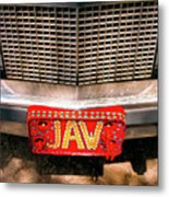 Front Of The Car - Grill And Plate Metal Print