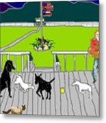 Front Porch Fun Metal Print
