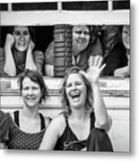 Front Row Spectators Metal Print