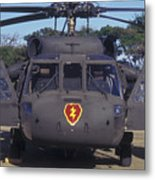 Front View Of An Army Hh-60 Pave Hawk Metal Print by Michael Wood