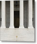 Front View Of The Supreme Court Building Metal Print