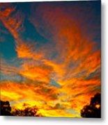Front Yard Sunset Metal Print
