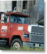 Front Of A Ford 9000 Powerhouse Metal Print
