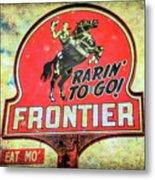 Frontier Gas Metal Print