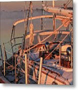 Frost On The Boat Metal Print