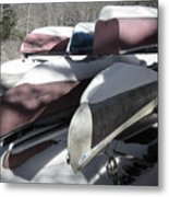 Frosted Canoes Metal Print
