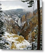 Frosted Canyon Metal Print