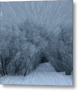Frosted Moon Metal Print