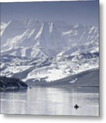Frosted Mountains Metal Print
