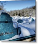 Frosted Paddleboats Metal Print