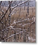 Frosted Twigs Metal Print