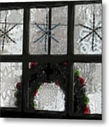 Frosted Windowpanes Metal Print