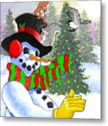 Frosty And Friends Metal Print